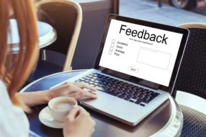 woman going through feedback