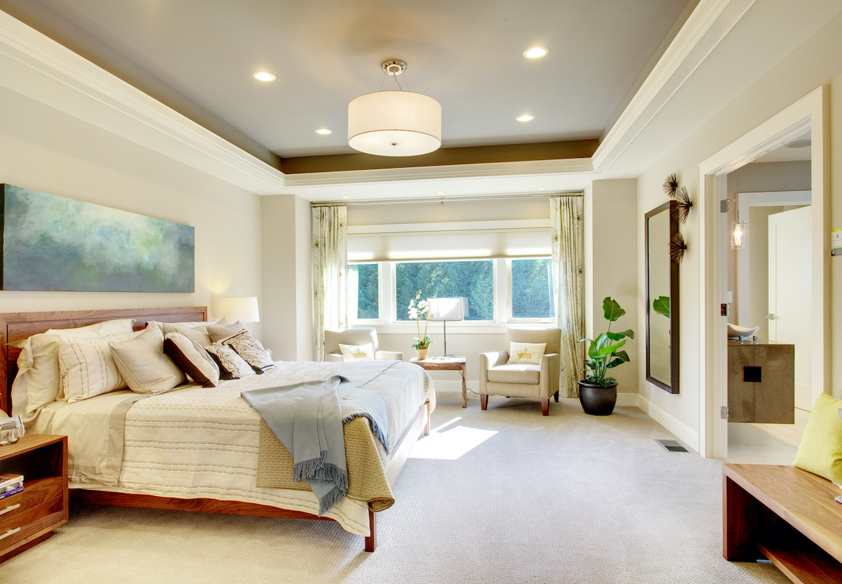 large bedroom space