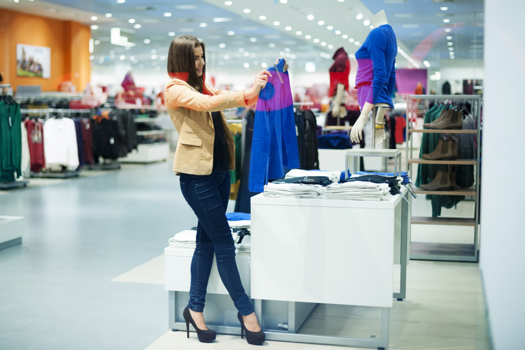 woman shopping at a store