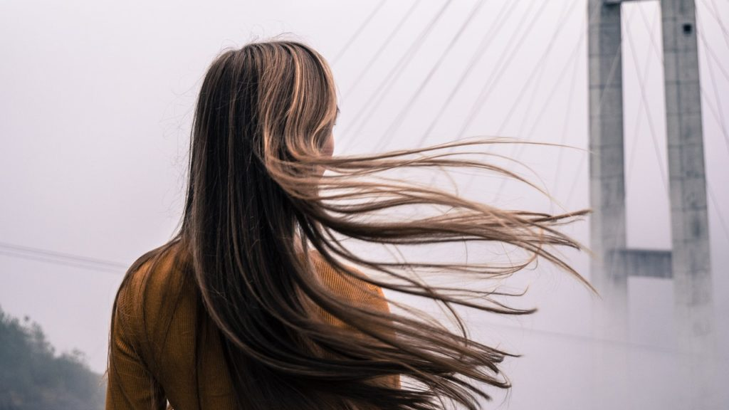 long haired person
