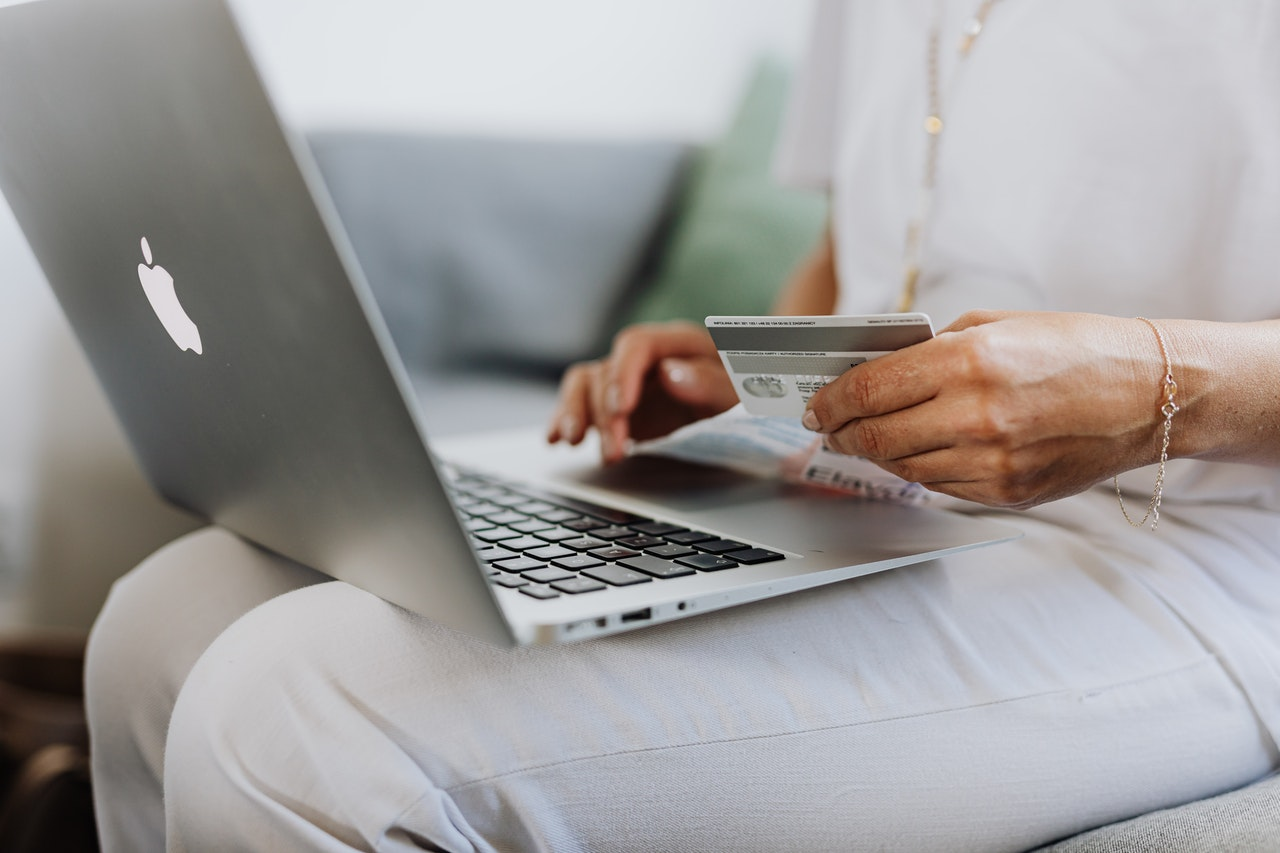 person purchasing online